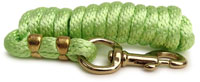 Poly Lead Rope-solid brass